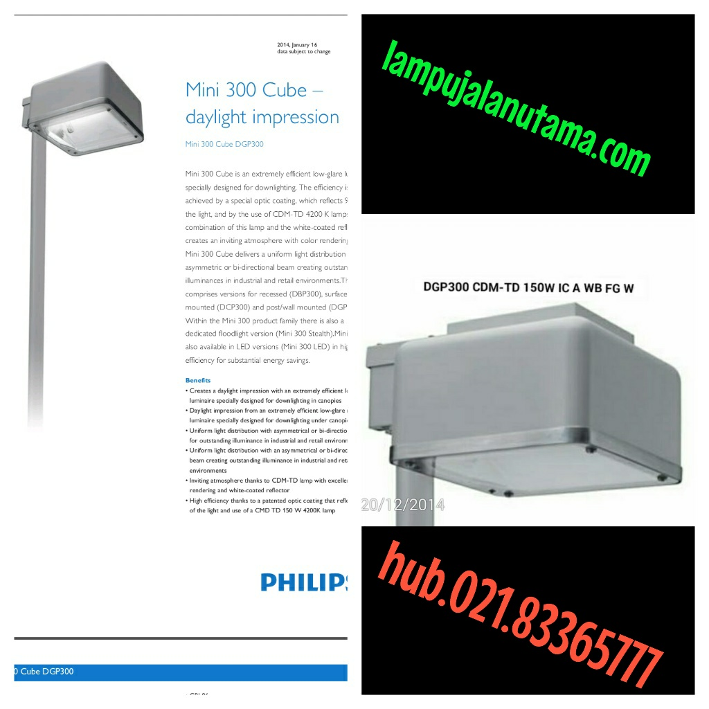 lampu jalan mini DGP 300 PHILIPS