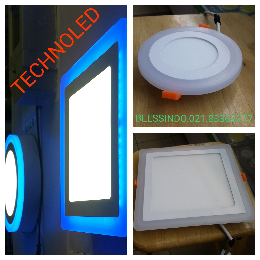 Lampu downlight Led tiga warna merk Technoled