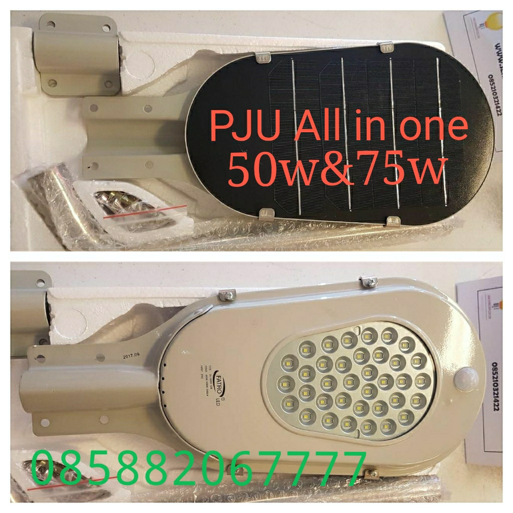 Lampu all in one atau PJU solar panel intergrated