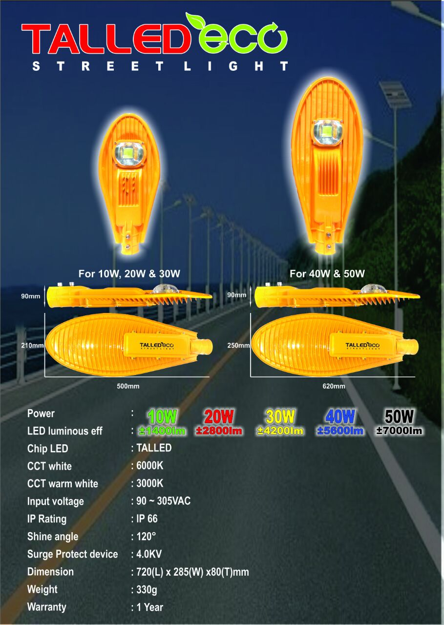 LAMPU JALAN LED PJU LED TALLED