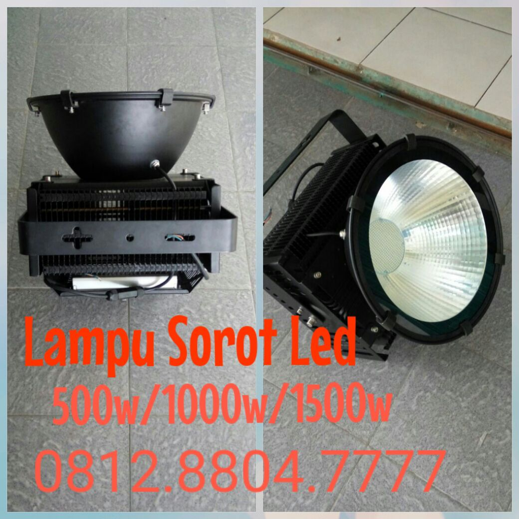 Lampu sorot led 500watt merk Technoled/ 1000w dan 1500w